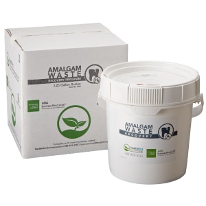 Amalgam waste container